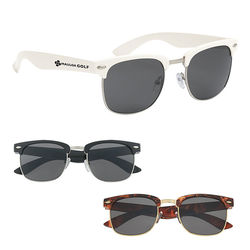 Plastic Panama Style Sunglasses with UV400 Lenses