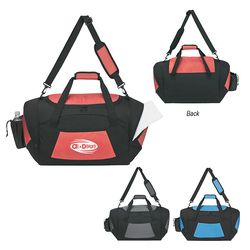 """18"""" Polyester and Nylon Color-Blocked Duffel Bag"""
