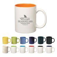 11 oz C-Handle Coffee Mug with Color Interior