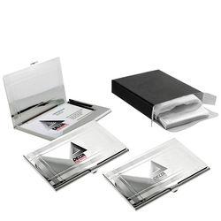 Shiny Chrome Business Card Holder