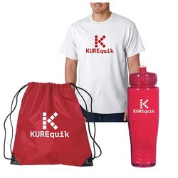 Promo Bundle with Adult T-Shirt, Bag and Water Bottle