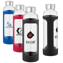 25 oz Glass Water Bottle with Silicone Sleeve