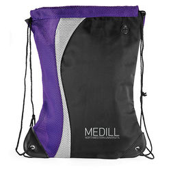 "18"" x 14.5"" Microfiber Color Splash Drawstring Cinch Backpack"