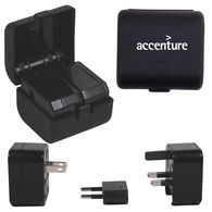 Power Adapter for International Travel with Built-In Case