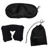 Compact Travel Set with Earplugs, Eye Mask and Neck Pillow