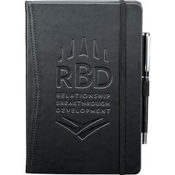 "5.5"" x 8"" Bound Hard Cover Journal with Pen Loop - BETTER"