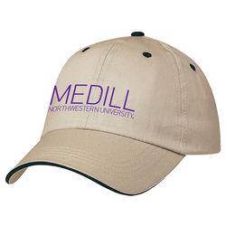 6-Panel, Medium Profile, Unstructured Cotton Twill Cap with Self-Fabric Velcro® Closure