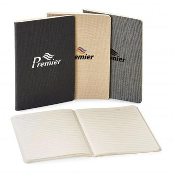 """5.5"""" x 8.25"""" Saddle-Stitched Journal with Linen SOFT Cover"""