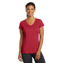 OGIO® Ladies' 100% Polyester Ultra-Breathable Moisture-Wicking V-Neck T-Shirt
