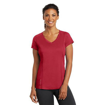 OGIO® Ladies' 100% Polyester Ultra-Breathable Moisture-Wicking V-Neck T-Shirt