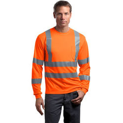 CornerStone ® - ANSI 107 Class 3 Long Sleeve Snag-Resistant Reflective T-Shirt