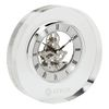 Round Crystal Skeleton Desk Clock
