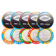 Chocolate Poker Chips with Stock Graphics
