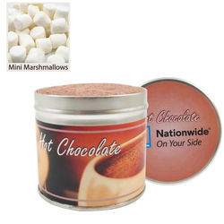 Large Gourmet Hot Chocolate Tins with Mini Marshmallows