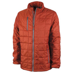 Mens' Quilted Cold-Weather Jacket is Packable and Super-Warm but Comfortably Lightweight