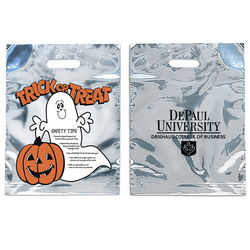 Silver Reflective Ghost Trick-or-Treat Bag