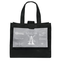 "20"" x 17"" Non-Woven Shoulder Tote with Mesh Panel and 26"" Handles"