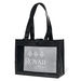"""16"""" x 12"""" Non-Woven Shoulder Tote with Mesh Panel and 26"""" Handles"""