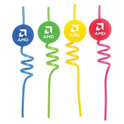 Silly Straws with Medallion
