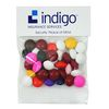 1 oz Header Bag Filled with Chocolate Buttons in Your Corporate Colors