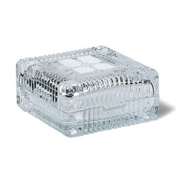 "Glass Keepsake Box - 3-7/8"" Square"