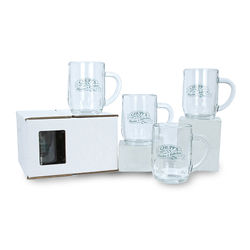 10 oz Glass Mug Set (4)