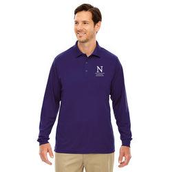 Men's Long-Sleeve Moisture-Wicking Pique Polo