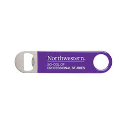 Classic Paddle Bottle Opener - Stainless Steel w/Color Vinyl Grip