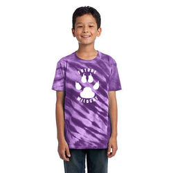 Tie-Dyed Tiger Stripe T-Shirt  - Youth