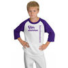 3/4 Sleeve Youth Raglan Baseball Jersey