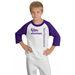 3/4 Sleeve Youth Raglan Baseball Jersey