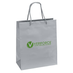"Glossy Paper Eurotote Bag - 10"" x 12"" - Foil Imprint"