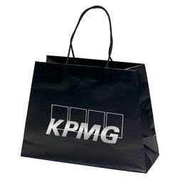 "Matte Laminated Paper Bag - 16"" x 12"" - Foil Imprint"