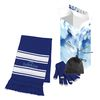 Winter Gift Set with Custom Box Includes Touch-Screen Gloves with Travel Pouch and Scarf