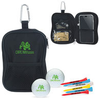 Golf Kit in Valuables Pouch Contains 2 Wilson® Ultra Balls and 6 Tees