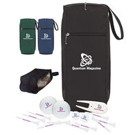 Golf Kit in Shoe Bag Contains 2 Wilson® Ultra Balls, 10 Tees, 2 Ball Markers and a Divot Repair Tool