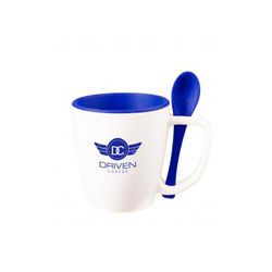 16 oz PLASTIC Mug with Spoon
