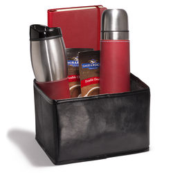 Gift Set with Insulated Bottle, Tumbler, Journal and Hot Cocoa in Folding Bin