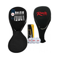 Golf Headcover Kit with 3 Callaway® Golf Balls, 7 Tees and 1 Divot Repair Tool with Ball Marker.