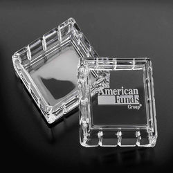 "Optical Crystal Keepsake Box - 3-1/2"" Square"