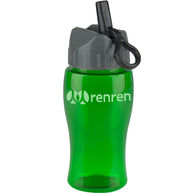 18 oz. Transparent Bottle with Flip Straw Lid (BPA-Free)