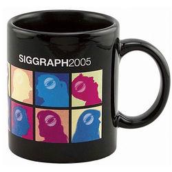 11 oz. C-Handle Black Coffee Mug with a Full-Color Print