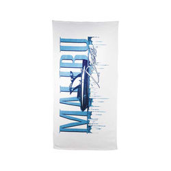"30"" x 60"" Mid-Weight White Beach Towel"
