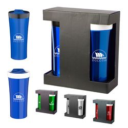 Gift Set Includes Ceramic/Stainless and Stainless Steel Tumblers