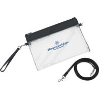 Clear Zippered Vinyl Wristlet Pouch - NFL Security Approved