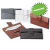 Faux Leather Business Card Case with Strap Closure