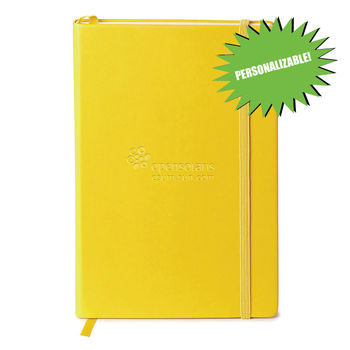"""5.5"""" x 8.25"""" Bound Journal with Elastic Closure and Ribbon Bookmark"""