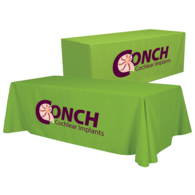 Full-Color Imprint 8' Draped Table THROW Transforms into 6' Fitted Table Throw