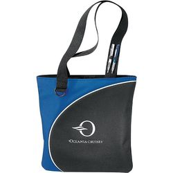 "15"" x 15"" Polycanvas Half Moon Convention Tote with 12.5"" Handles"