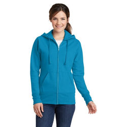 Ladies' 50/50 Blend Full-Zip Hooded Fleece Sweatshirt